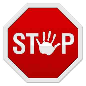 Hand Safety Stop Sign